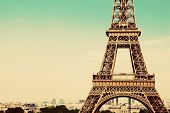 stock photo of architecture  - Eiffel Tower middle section - JPG