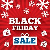 stock photo of applique  - Black Friday Sale background - JPG