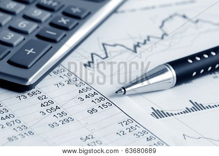 Financial accounting stock market graphs analysis  poster