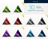 Mega collection of glass triangle symbols - web boxes / banners
