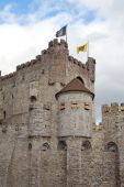 Medieval castle in Ghent, Belgium poster