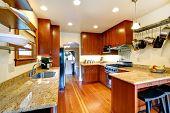stock photo of kitchen appliance  - Practical kitchen room interior - JPG