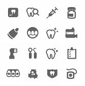 pic of jaw-bone  - Simple set of dental related vector icons for your design - JPG