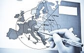 Vienna - The Center Of Europe On Map poster