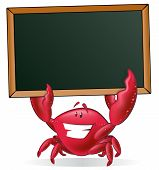 picture of crab  - Cute Crab holding Blank Sign - JPG