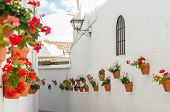 stock photo of pueblo  - Street of Benalmadena Pueblo - JPG