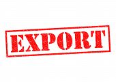 stock photo of export  - EXPORT red Rubber Stamp over a white background - JPG
