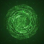 stock photo of futuristic  - Futuristic graphic user interface - JPG