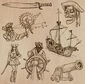 stock photo of buccaneer  - Pirates Buccaneers and Sailors  - JPG