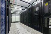 pic of cluster  - Modern interior of server room - JPG