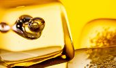foto of scotch  - closeup of scotch whiskey in glass with ice cubes background concept - JPG