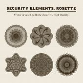 stock photo of rosettes  - Security elements - JPG