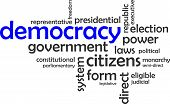 pic of democracy  - A word cloud of democracy related items - JPG