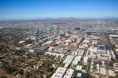 picture of piestewa  - Aerial view of Tempe Arizona along with Phoenix and Scottsdale in the distance - JPG