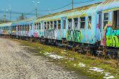 picture of railcar  - BUCHAREST ROMANIA  - JPG