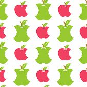 Постер, плакат: Seamless Pattern With Green And Red Apples