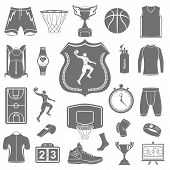 foto of basketball  - Basketball icon set  - JPG