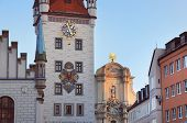stock photo of munich residence  - Old Town Hall facade in Munich - JPG