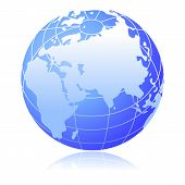 pic of earth structure  - Illustration of earth globe on white background - JPG