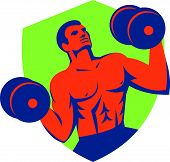 picture of strongman  - Illustration of a crossfit athlete muscle - JPG