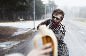 picture of insane  - Insane zombie hunting for bananna like wild - JPG