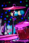 picture of drum-kit  - Drum Kit on the stage shallow depth of field - JPG