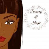 pic of dark-skin  - Portrait of beautiful woman with dark brown skin - JPG
