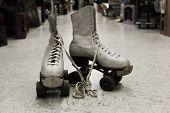 image of roller-skating  - Old worn roller skates with big shoe - JPG