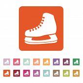foto of skate  - The skates icon - JPG