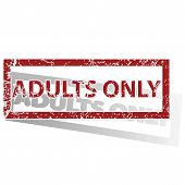 foto of adults only  - Outlined red stamp with words ADULTS ONLY - JPG