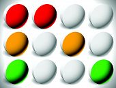 picture of traffic light  - Set of traffic lights traffic lamps or control lights - JPG