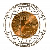 picture of bitcoin  - Bitcoin Inside The Cage - JPG