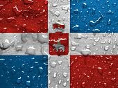 picture of perm  - flag of Perm Krai with rain drops - JPG