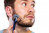 image of razor  - Health beauty and skin care concept - JPG