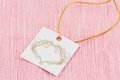 stock photo of keepsake  - Tag for the purpose a gift or as a beautiful decoration - JPG