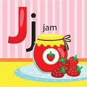 stock photo of letter j  - the letter j for the word jam - JPG
