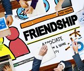 stock photo of comrades  - Friendship Group People Social Media Loyalty Concept - JPG