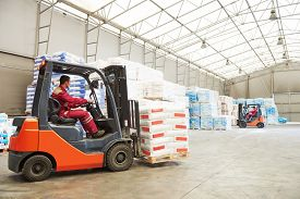 foto of forklift  - warehousing - JPG