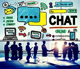 foto of chat  - Chat Chatting Communication Social Media Internet Concept - JPG