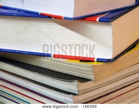 Stationary - Book Stack poster