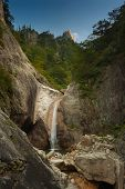 image of seoraksan  - A beautiful scenic landscape of a motion blurred waterfall - JPG