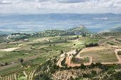foto of golan-heights  - view of the golan heights and the Galilee  - JPG