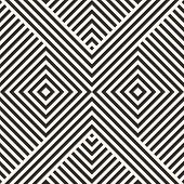 Vector Geometric Lines Pattern. Modern Stylish Linear Background With Stripes, Diagonal Shapes, Squa poster