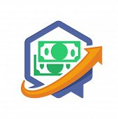 icon illustration with the concept of the media of directional communication, about information financial solution.