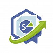 icon illustration with the concept of directional communication media, about taxation information.