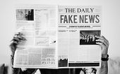 Fake news headline on a newspaper poster