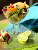 Spicy Fruit Salad With Basil And Cayenne poster