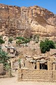picture of dogon  - The principal Dogon area is bisected by the Bandiagara Escarpment. The Dogon are best known for their mythology their mask dances wooden sculpture and their architecture. - JPG