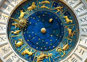 Ancient Clock Torre Dellorologio In Venice poster