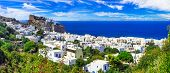 beautiful Greek islands - volcanic Nisyros (Dodecanese) panorama of Mandrakia village poster
